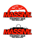 Massive clearout sale designs — Vetor de Stock