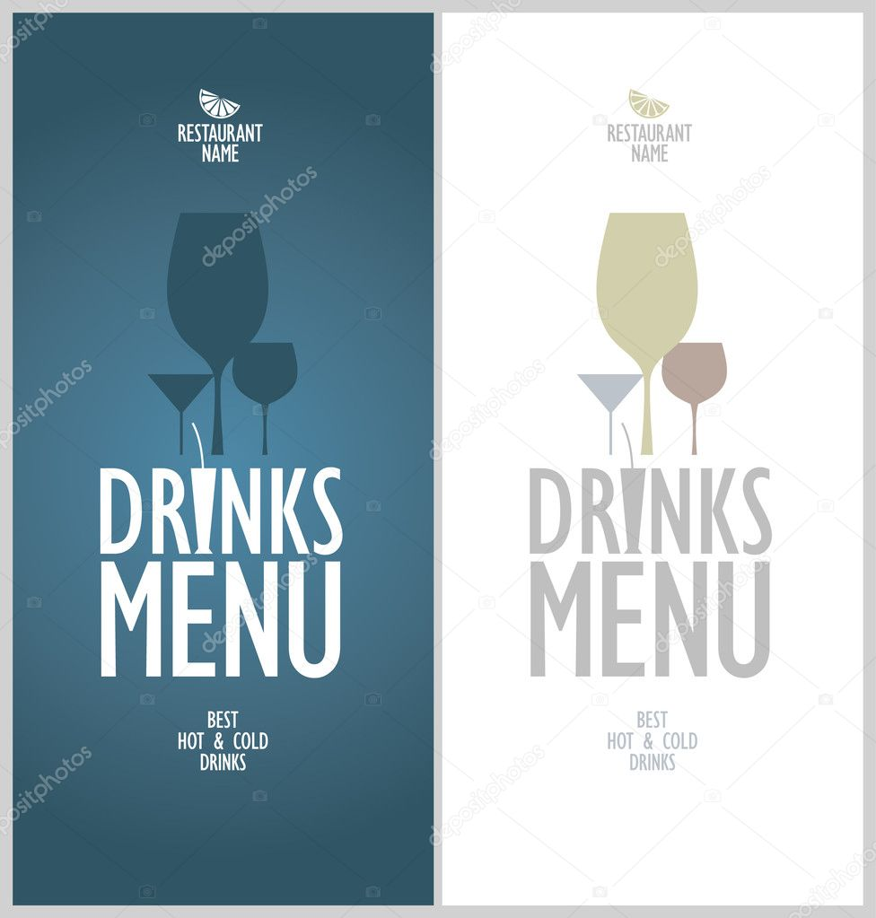 drinks menu template – Sample Drink Menu Template