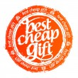 Stock Vector: Best cheap gift stamp.