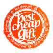 Best cheap gift stamp. — Image vectorielle
