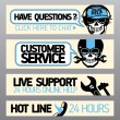 Customer service support banners — Stock Vector #34626645