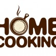 Home cooking icon. — Stockvectorbeeld
