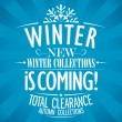 Winter is coming design. — Stock vektor