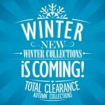 Winter is coming design. — Stock Vector