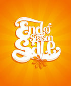 End of autumn season sale typographic illustration. — Vector de stock