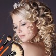 Wedding makeup portrait. — Stok fotoğraf