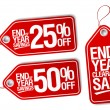 End of year savings labels set. — Stock Vector #35621073