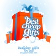 Stock Vector: Best cheap gifts design template.