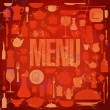 Retro restaurant menu card design. — Stock Vector
