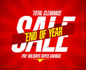 End of year clearance design in retro style. — Stock Vector