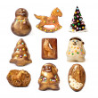 Handmade christmas chocolate toys. — Stock Photo