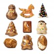 Handmade christmas chocolate toys. — Stockfoto