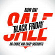Design for black friday sale. — Imagen vectorial
