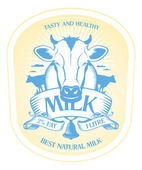 Milch-label-design. — Stockvektor