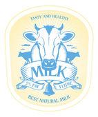 Mleko do projektowania etykiet. — Wektor stockowy