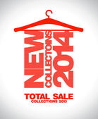 New collections 2014, total sale 2013. — Stock Vector