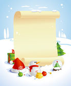 Vánoční design s papírem roll. — Stock vektor