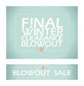 Final winter clearance banners. — Stock Vector