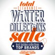 Stock Vector: Winter collections sale poster.