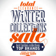 Winter collections sale poster. — Stockvectorbeeld
