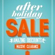 After holiday sale design. — Stock Vector