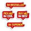 I am bestseller, buy me. — Stock Vector