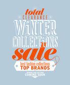 Vinter samlingar försäljning typografiska design. — Stockvektor
