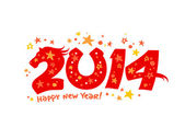 2014 new year design. — Stock Vector