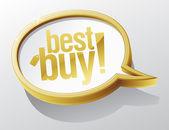 Best buy speech bubble. — Stock Vector