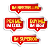 I am bestseller, buy me. — Vettoriale Stock