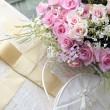Wedding bouquet of roses. — Stock Photo