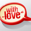 With love glass speech bubble. — Stock Vector #38781167