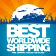 Vector de stock : Best worldwide shipping design.
