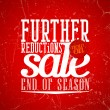 Further reductions sale design in grunge style. — Stock Vector