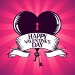 Valentine card with heart. — Vector de stock #38781427