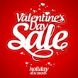 Vector de stock : Valentine day sale.