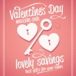 Stockvector : Valentine day massive sale typographic design.