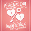 Vector de stock : Valentine day massive sale typographic design.