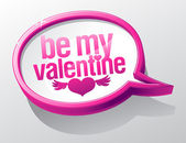 Be My Valentine glass speech bubble. — Stock Vector