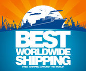 Best worldwide shipping design. — Stock Vector