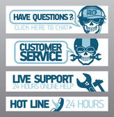 Customer service support — Stock Vector