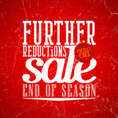 Further reductions sale design in grunge style. — ストックベクタ