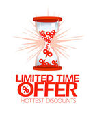 Limited time offer hourglass symbol. — Stock Vector
