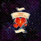 Valentine card with hearts. — Vector de stock