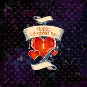 Valentine karta se srdíčky. — Stock vektor