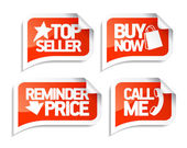Seller speech bubbles for online markets. — Stock Vector