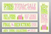 Spring fashion banners for sale and new collections. — Stock Vector