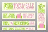 Bahar moda afiş satış ve yeni Koleksiyonlar. — Stok Vektör