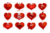 Hearts symbols. — Stock Vector