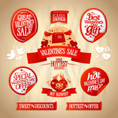 Valentine day sale designs collection. — Stock Vector